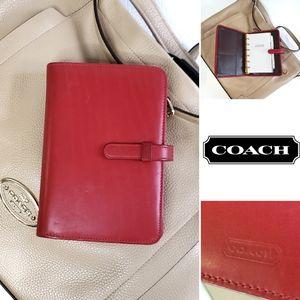 Coach Leather Agenda Planner Calendar Folio
